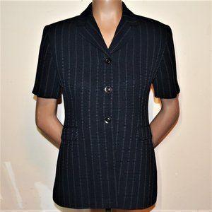 Larry Levine Short Sleeve Lined Suit Jacket Sz 4P